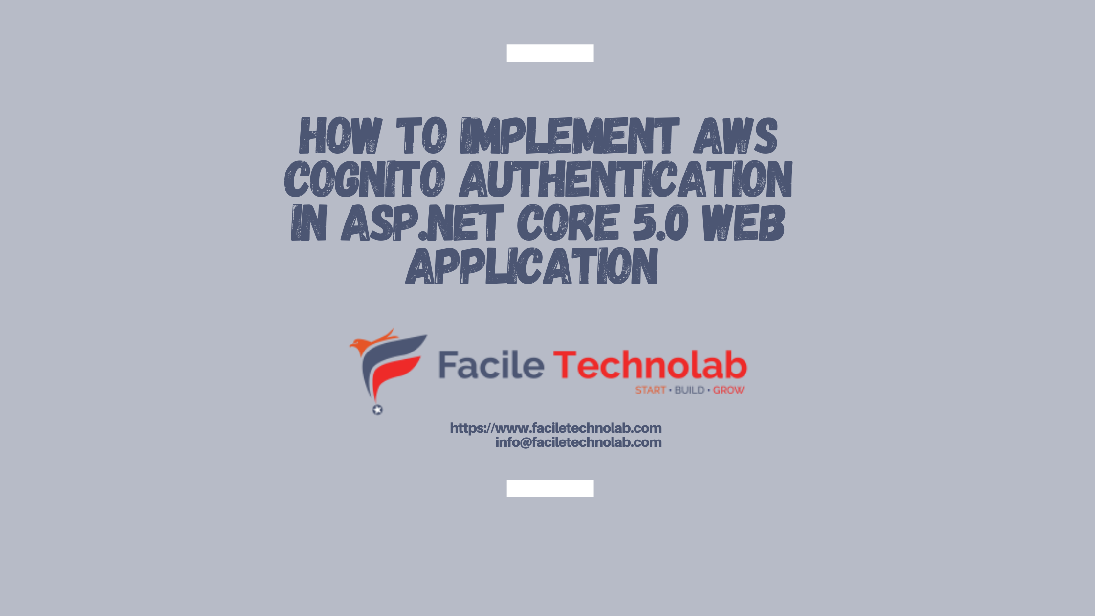 how to implement AWS Cognito Authentication in ASP.NET Core 5.0 Web application